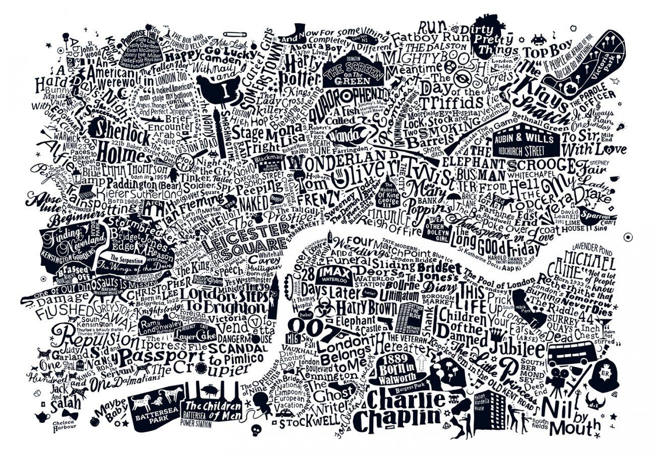 Film type map of london