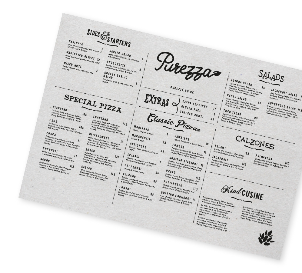 purezza-gaphic-design-menu-layour-cool-branding-front