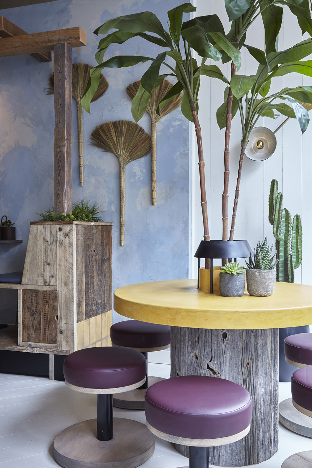 Mam_Restaurant_bar_interior_design_branding_seating_vietnamese_plants_stools_feature_table_tree